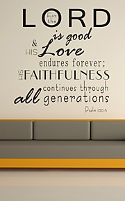 AYA™ DIY Wall Stickers Wall Decals, For the Lord Is Good Bible Verse PVC Wall Stickers