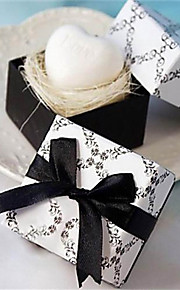 Black And White Giftbox Design Soap Wedding Party Favors