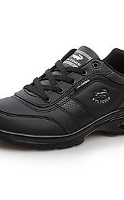 Черный / Коричневый / Белый-Мужская обувь-Для прогулок / Для офиса / На каждый день-Полотно / Микроволокно-Кроссовки