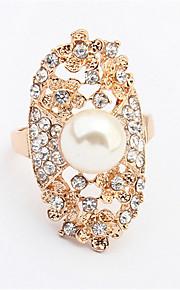 Alliances Femme / Amoureux Imitation de perle / Stras Alliage Alliage 10 Or