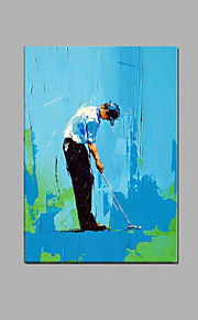 käsinmaalattu golf ihmisiä öljymaalaus venytetty runko