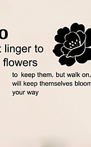 Do Not Linger To Gather Flowers Pvc Wall Stickers Removable Home Decoration Diy Stickers Decals