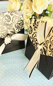 Black And White Wedding Favor Boxes (12pcs/bag)