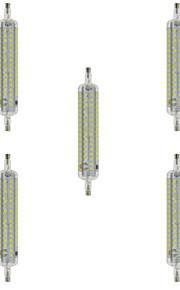10W R7S Ampoules Maïs LED T 120 SMD 2835 800 lm Blanc Chaud / Blanc Froid Décorative / Etanches AC 100-240 V 5 pièces