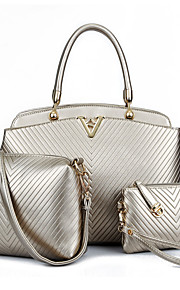 Women-Formal / Casual / Office & Career / Shopping-PU-Tote-Beige / Blue / Gold / Black