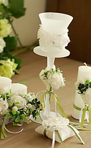Thème de jardin / Thème classique Favors Candle-1 Piece / Set Bougeoir Non personnalisé Blanc