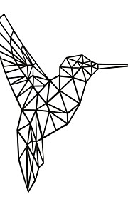 Animales / Caricatura Pegatinas de pared Calcomanías de Aviones para Pared,PVC M:48*42cm/L:65*56cm