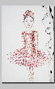 מצויר ביד אנשים מודרני,פנל אחד ציור שמן צבוע-Hang