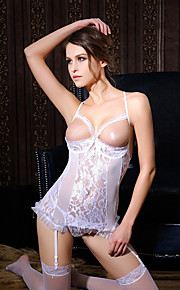 Women Backless Gartered Lingerie / Ultra Sexy Nightwear,Nylon / Polyester Without Stockings