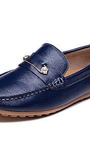 Men's Shoes Nappa Leather Party & Evening / Casual Flats Party & Evening / Casual Wedding Flat Heel Blue/Brown