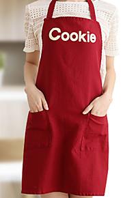 100% katoen schorten keuken koken met cookie stijl 2 kleuren (rood beige)
