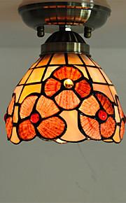 5 inch Retro Tiffany Ceiling Lamp /Shell Shade Flush Mount Living Room Dining Room light Fixture