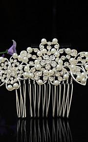 Donne Strass / Lega / Perle false Copricapo-Matrimonio / Occasioni speciali Fermagli 1 pezzo