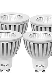 3W GU10 Spot LED MR16 1 COB 240-270 lm Blanc Chaud / Blanc Froid Décorative AC 100-240 V 4 pièces