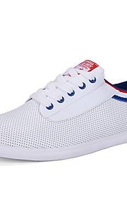 Черный / Синий / Зеленый-Мужская обувь-Для прогулок / На каждый день / Для занятий спортом-Полотно / Микроволокно-Кроссовки