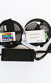 ZDM™ 10 M 600 5050 SMD Rouge Vert BleuEtanche / Découpable / Télécommande / Intensité Réglable / Pour Véhicules / Auto-Adhésives /