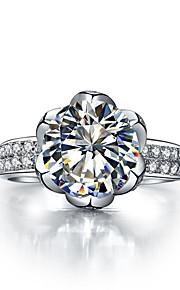 ehrfürchtige Herr der Ringe 3ct sona Diamantring für Frauen Lotus Design Verlobungsring echten massivem Silber Mikro gepflastert