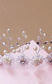 Donne Strass / Ottone / Perle false Copricapo-Matrimonio / Occasioni speciali / All'aperto Tiare 1 pezzo