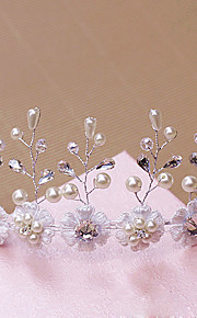 Tiare Casque Mariage / Occasion spéciale / Outdoor Strass / Laiton / Imitation de perle Femme Mariage / Occasion spéciale / Outdoor1