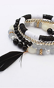 European And American Fashion Bead Bracelet Feather
