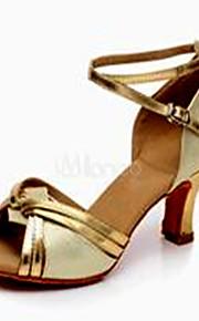 Sapatos de Dança(Prateado / Dourado) -Feminino-Não Personalizável-Latina