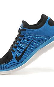 Nike Free Flyknit 4.0 Men's Sneaker Running Shoes Tulle Blue / Green / Black and White / Orange