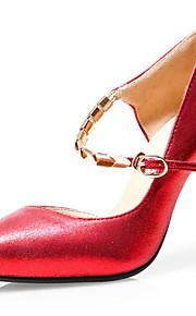 Chaussures Femme-Mariage / Habillé / Soirée & Evénement-Rouge / Argent / Or-Talon Aiguille-Talons / A Plateau / Escarpin Basique / Bout