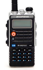 Baofeng BF-UVB2 PLUS Walkie-talkie 7W 128 136-174 mHz / 400-520MHz 1800mAh 1,5-3 kmFM-radio / Stemmekommando / Dual-band / Dual display /
