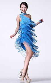Latin Dance Women's Fashion Performance Cotton Rhinestones / Tassel(s) Dresses