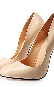 Women's Shoes PU Stiletto Heel Heels / Round Toe Heels Wedding / Party & Evening / Dress Black / Red / Nude