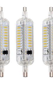 5W R7S Ampoules Maïs LED T 76 SMD 4014 800 lm Blanc Chaud / Blanc Froid Etanches / Décorative AC 100-240 V 3 pièces