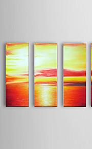 Peint à la main Paysage Modern,Cinq Panneaux Peinture à l'huile Hang-peint