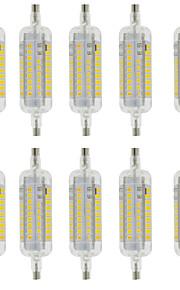 5W R7S Ampoules Maïs LED T 60 SMD 2835 800 lm Blanc Chaud / Blanc Froid Décorative / Etanches AC 100-240 V 10 pièces