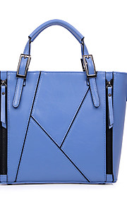 Women-Formal / Casual / Office & Career / Shopping-PU-Tote-Blue / Brown / Red