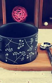 세라믹 프로스트 커피 잔 세트 (숟가락과 컵 홀더)