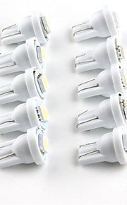 10stk t10 1smd 5050 hvid bil førte bil LED belysning kile førte auto lampe (DC12V)