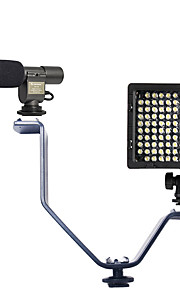 1 Set with 108 Microphone and V-type Flash Light Bracket and HY-126 Led Light