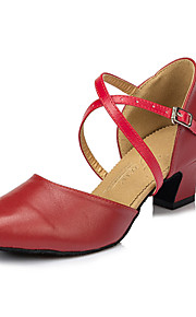 Для женщин-Кожа-Не персонализируемая(Красный) -Сальса