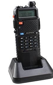Baofeng UV-5R-5W+3800L-black Walkie-talkie 4W / 1W (Max 5W) 128 136 - 174 MHz / 400-520MHz 3800mAh 3 Km - 5 KmFM Radio / Allarme di