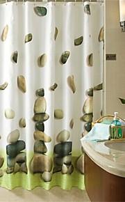 """moderne sten mønster badeforhæng W71 """"× L71"""""""
