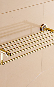 Badeværelseshylde / Ti-PVD / Vægmonteret /24.4*8.6*5.9 inch /Messing /Moderne /62CM 22CM 1.5KG