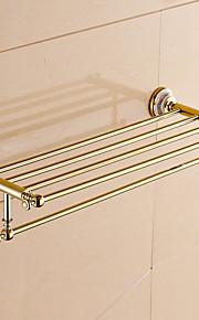 Badezimmer Regal / Ti-PVD / Wandmontage /24.4*8.6*5.9 inch /Messing /Modern /62CM 22CM 1.5KG