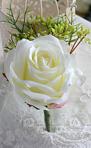 Wedding Flowers Free-form Roses Boutonnieres Wedding / Party/ Evening Beige Satin