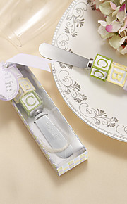 Beter Gifts®Recipient Gifts - 1Piece/Set - Alphabet Block Stainless-Steel Spreader Favors