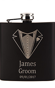 Personalized Wedding Party Gifts, Stainless Steel Engraved Wedding Flasks,Groomsmen Gifts