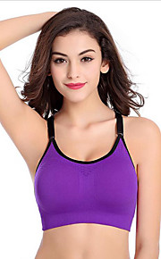 Women's Full Coverage Yoga Fitness Comfort Shockproof Bras,Wireless / Sports Bras / Racerback Nylon