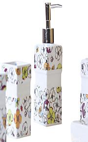 flores de cerezo patrón de baño de cinco piezas caja de juego +