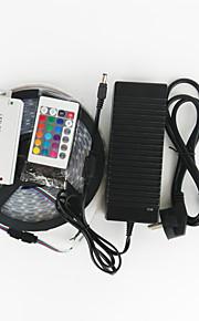 ZDM™ 5 M 120 5050 SMD Rouge Vert Bleu Etanche / Télécommande / Couleurs changeantes 144 W Barrette d'Eclairage RVB AC100-240 V