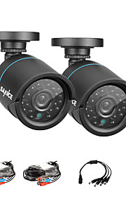 sannce® 2pcs 720p AHD ir cctv taglio kit per macchine fotografiche interne ed esterne kit del sistema resistente alle intemperie di