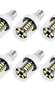 3W E12 / E26/E27 Ampoules Maïs LED T 30 SMD 5733 250 lm Blanc Chaud / Blanc Froid Décorative AC 110-130 V 6 pièces